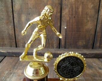 Girl's Soccer Trophy Thanksgiving 1989