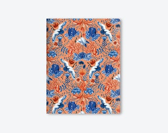 Notebook/Notebook/The Garden of Cranes/Watercolor/by Elisabeth Aranda
