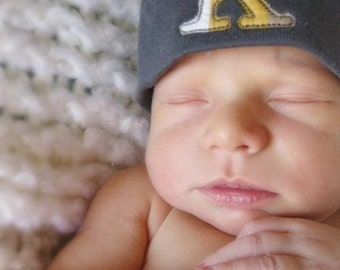 Custom Monogram Baby Knot Hat -  You Pick ONE Personalized Hat