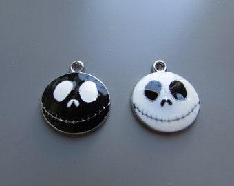 Jack Skeleton charm pendant 2 colours to choose