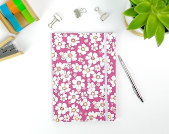 Floral notebook, A5 pretty journal with lined pages, stationery, workbook
