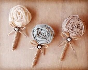 Men wedding boutonniere, grooms buttonhole, wedding brooch