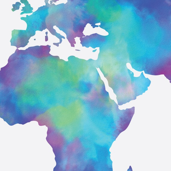 Watercolor map of the world in navy blue indigo teal cobalt watercolor map of the world in navy blue indigo teal cobalt turquoise world map poster large world map print digital watercolor painting gumiabroncs Image collections