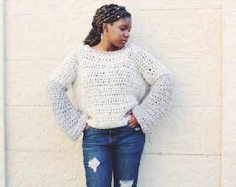 The Frosty Crochet Sweater Pattern. Instant Download!