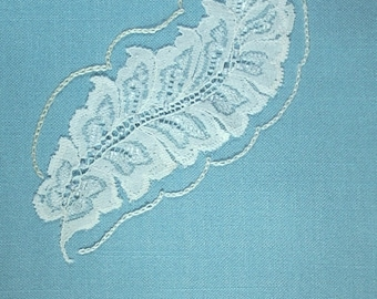 Autumn Lace- Embroidered Guest Towel