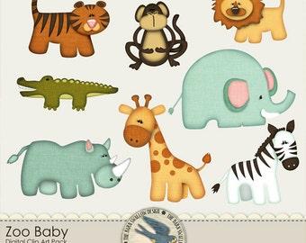 Zoo Baby Digital Clip art Pack - Instant Download