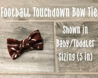 Football Touchdown Bow Tie