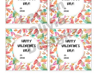 Printable — Valentine's Day Hearts and Circles