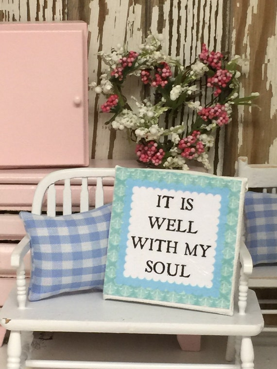 """It Is Well Miniature Canvas Sign 2"""" x 2"""""""