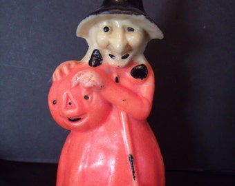 """Vintage Gurley Candle, """"Witch"""", from the 60's, (# 875/LS)"""