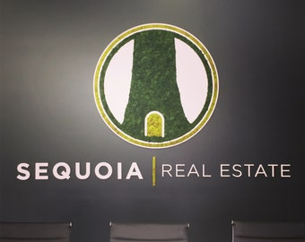 Custom Moss Logo for Your Office, Restaurant, or Store! Unique signage!