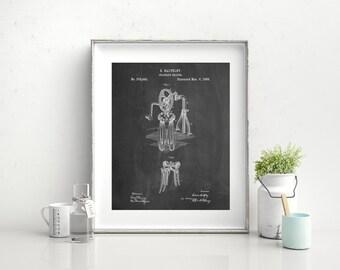 Baltzley Egg Beater Patent Poster, Bakery Decor, Kitchen Wall Art, Culinary Gifts, Restaurant Decor,  PP0620