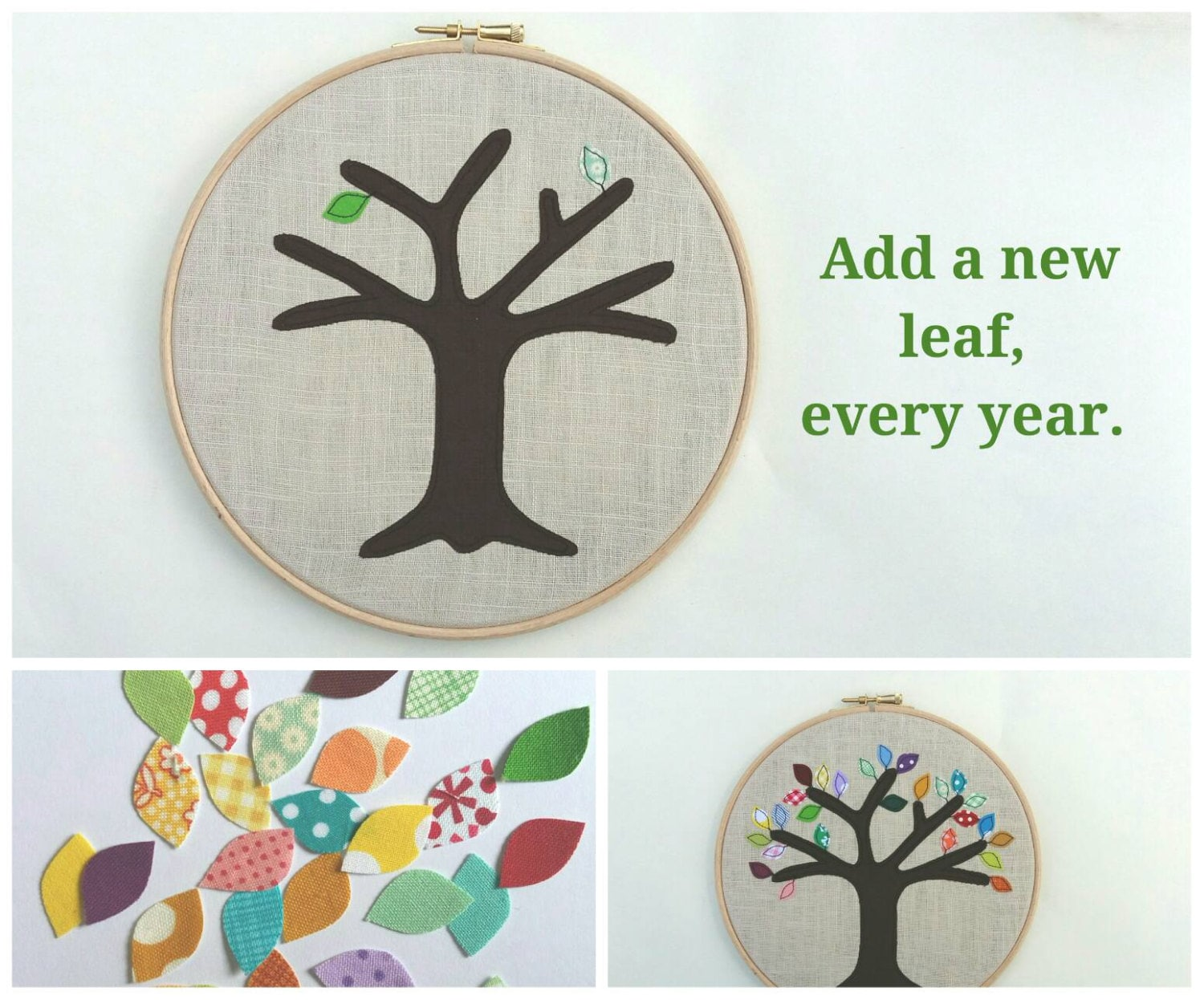 Cotton anniversary gift add a new leaf each year of