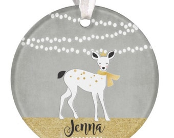 Ornament Christmas Ornament Baby Ornament Deer Ornament 1st Christmas Ornament Boy Ornament Baby Shower Gift RyElle Personalized Ornament