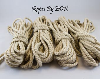 Bondage Rope Beginnners Kit Hemp Shibari Rope