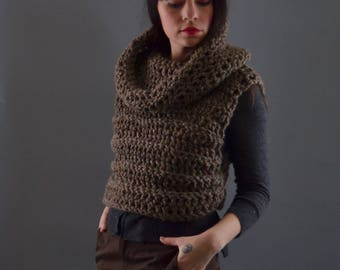 The BEST Vest, The WARMEST Winter Sweater Piece, Layering Cowl Neck Vest made from Non Wool Yarn, extra thick and Cozy Knitwear for Women