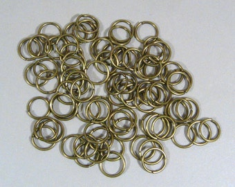 10mm Antique Brass Jump Rings - Choose Your Quantity