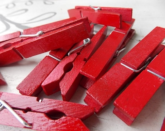 Very Red clothespins