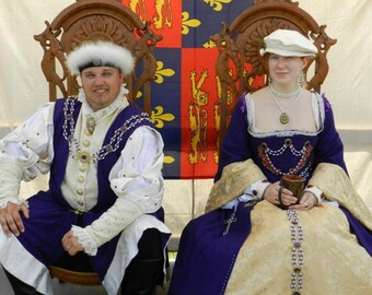 Tudor Renaissance Gown - Historical Pattern - Custom Made