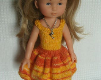 Dress and Doll babies, orange tone necklace