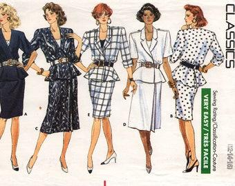 Unbeschnittenen Misses Rock TOP & TANK-Top Muster Butt #6205 Größe 14.12.16 sehr einfach gerade a-Linie Rock Schößchen Epauletten Vintage Nähkästchen