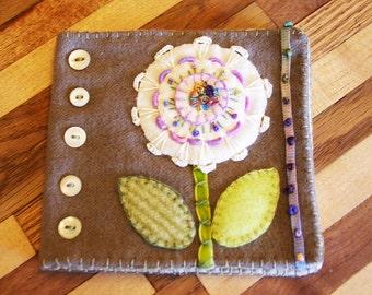 Wool Flower Needlebook Pattern