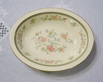Vintage Minton Jasmine Oval Vegetable Bowl Royal Doulton Floral Pattern England Replacement PanchosPorch & Vintage Victoria China Gravy Boat Bowl Floral Pattern