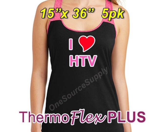 "15"" x 36"" / 5-sheet / ThermoFlex Plus - Heat Transfer Vinyl - HTV"