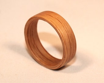 Wooden Rings - Bentwood Wooden Oak Rings - Mens Wood Rings, Womens Wood Rings, Wood Engagement Rings, Wood Wedding Bands