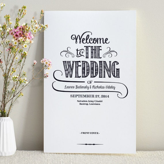 Handlettered Love / Wedding Program / Order of Service / DIY