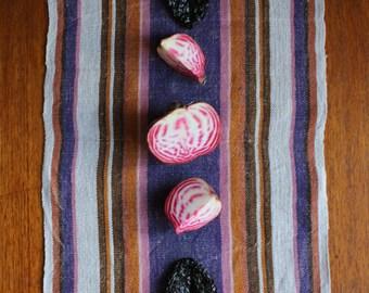 Vintage Swedish Handwovens: Purple Retro Heaven