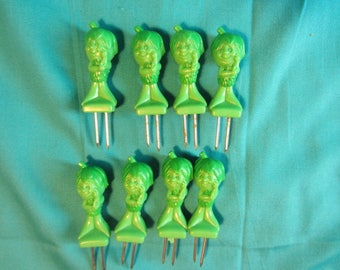 Vintage Advertising LITTLE SPROUT Jolly Green Giant Corn on the Cob Holders, Special Corn Holders, Corn Cob Ends, Vintage Advertising