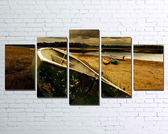 The Old Boat 5pc Canvas Set