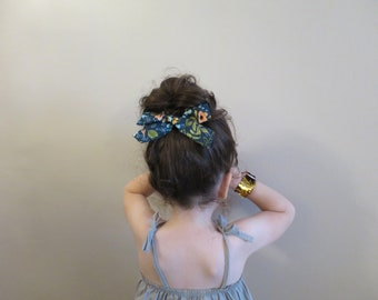 Rifle Paper Co Floral Oversized Schoolgirl, Oversized Schoolgirl bow, Handmade Bow, Baby Headband, Hair accessories