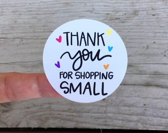Thank You for Shopping Small Stickers, Packaging Stickers, Labels, Thank You Stickers Spring Stickers