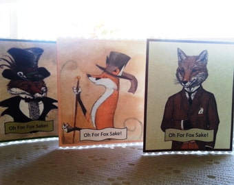 Do it yourself fox etsy print at home do it yourself diy fox mini gift cards oh solutioingenieria Images