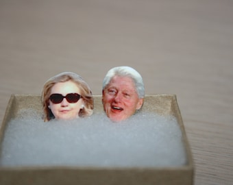 Bill And Hillary Clinton Stud Earrings Political Jewelry President 2016 Election Glasses