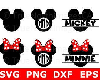 Mickey Monogram SVG / Mickey Mouse Clipart / Mickey Vector / Mickey Mouse SVG / Minnie Mouse SVG / Mickey Clipart / Mickey Head svg