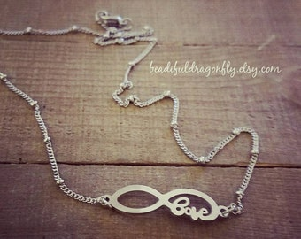Stainless Steel Infinity Choker. Comes in 16 inch length.