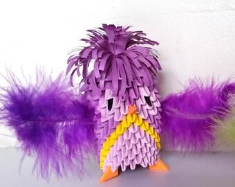 3d origami  bird