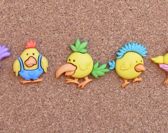 Chicken Push Pins or Magnets