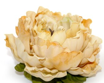 1  Jumbo Banana Cream Pie Silk Peony - Artificial Flowers, Silk Flowers - PRE-ORDER