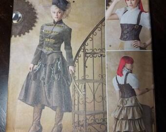 Ladies/Teen Steampunk Costume Pattern - XS-S