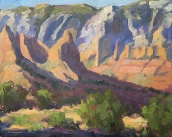 My Sedona Evening - Arizona - Original Oil Landscape Painting