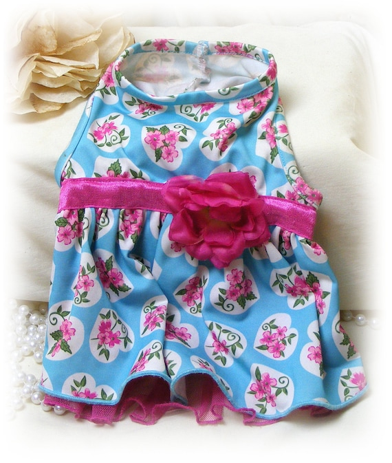 Adorable Hand Made (SMALL) DOGGIE DRESS . . . Custom Designed Small Dog Dress . . . (Custom Clothes Orders Welcome)