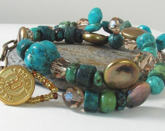 City of Dallas Turquoise Necklace Wrap Bracelet Etsy Handmade Jewelry