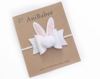 Baby Headband, Easter Headband, Easter Hair Bows, Easter Bunny Headband, Bunny Ears Headband, Baby Easter Headband, Easter Baby Headband
