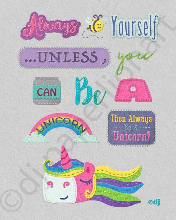 Unicorn Saying 8x10 Print **FREE SHIPPING**