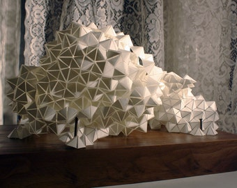 Geometric PVC-Paper and Wood sculpture