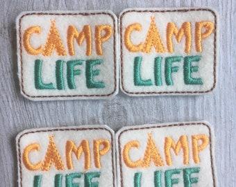 Camp Life Felties Set of 4 - Boy Scout Feltie - Girl Scout Feltie